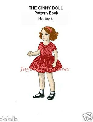 Ginny Doll Clothes Pattern 7 to 8 inch Book 8 Rain Cape