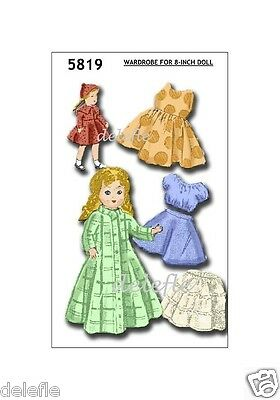 Ginny Doll Pattern 7-8 inch outfits Book No. 9 wardrobe