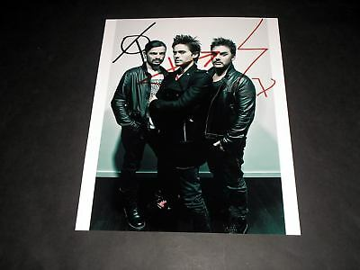 """30 Seconds To Mars Repro Signed 10""""x8"""" Photo Jared Leto"""