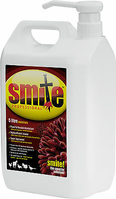 5L SMITE RED MITE CONCENTRATE Coops Hen Chicken Litre 5 Litre Poultry Liquid 5lt