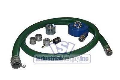 "2"" Trash Pump Suction w/100FT Discharge Hose w/Cams Kit"