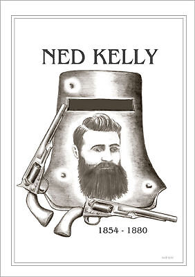 Ned Kelly  Memorial  Drawing   Limited Edition Print