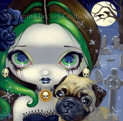 Fairy Face 160 Jasmine Becket-Griffith SIGNED 6x6 PRINT mother baby faery