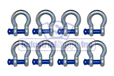 """Anchor Shackle   Clevis   Alloy Screw Pin   3/8""""   8 Pack   Industrial Supply"""