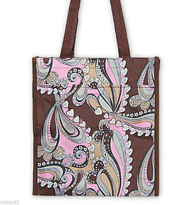 CLEARANCED PRICED Tote Brown Paisley Heart Shopper Bag