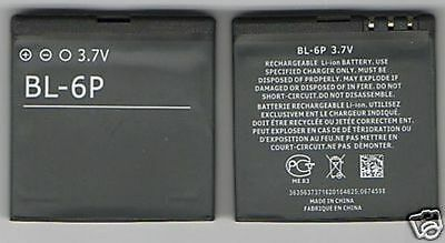 Lot 2 New Battery For Nokia Bl6P 6500C 6500 7900P 7900