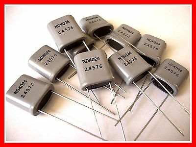 NDK NDK024 2.4576 MHZ CRYSTAL OSCILLATOR HC-33  10-Pack