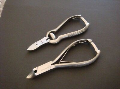 Toe Nail Clippers Nippers SET of 2 Pedicure Beauty Podiatry salon spa Treatment