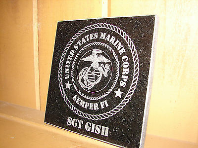 Stone Personalized Laser Tribute Plaque Gifts Awards IX
