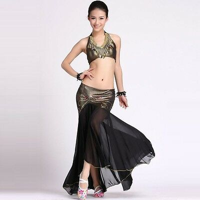 Belly Dance Costume (Peacock Top, Fishtail Skirt) 9 Colors
