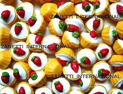 100 ollhouse Strawberry Cupcakes *Mini Food  Cake * WHOLESALE