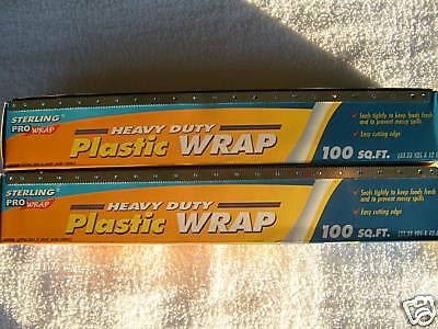 Two Thin Plastic Wrap packages - Brand New