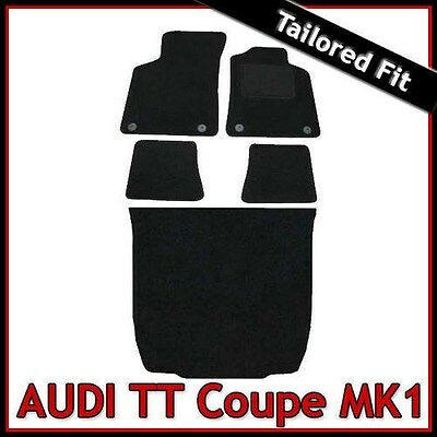 Audi TT Coupe Mk1 1998-2006 Tailored Fitted Carpet Car Floor & Boot Mats BLACK