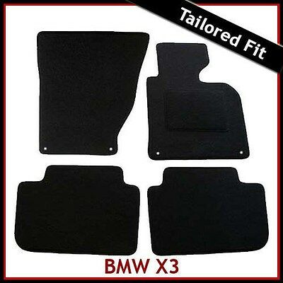 BMW X3 E83 2003-2010 4-eyelets Tailored Fitted Carpet Car Mats BLACK