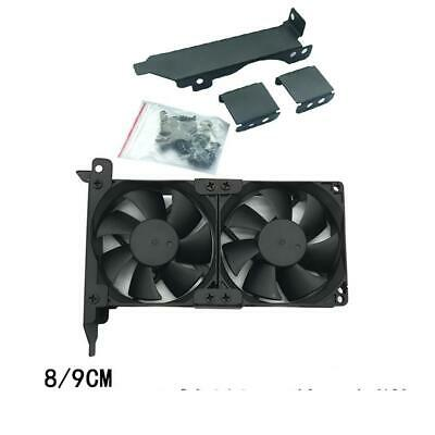 Dual Fan Mount Rack PCI Slot Bracket for video card 2x 8cm/9cm fan