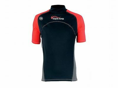 Aqualung Rash Guard RedNight Kurzarm, UV-Schutz Lycra Shirt, UV-Shirt