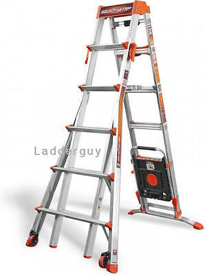 Little Giant Select Step Ladder 6-10 AirDeck 15109-001 selectstep Wheels tv New!