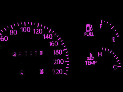 HOLDEN COMMODORE VT VX PINK LED Dash Light - Including  one for the LCD Display