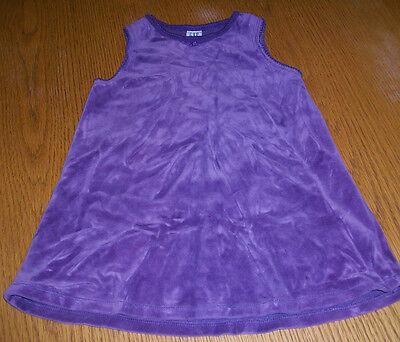 Girls Size 3 Baby Gap Purple Velvet Super Soft Dress Bow Cotton Poly Blend Cute!