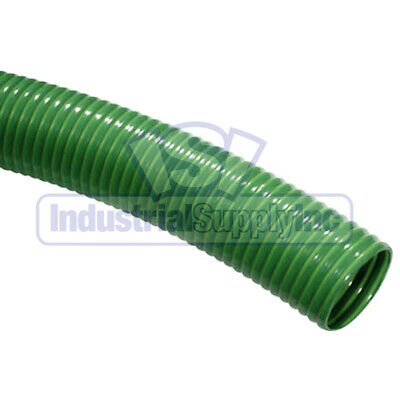 "2"" x 20' Green PVC Trash Pump Water Suction Hose w/o Fittings"