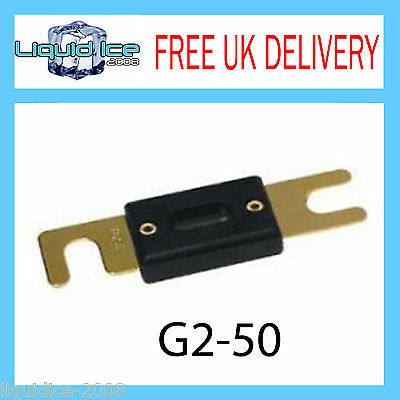 G2-50 80  1 X GOLD PLATED CAR VAN AUDIO ANL FUSE 80a AMP AUTOMOTIVE FUSES HOLDER