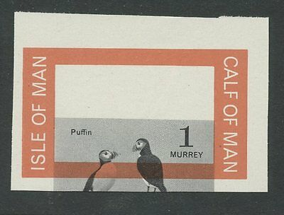 IOM Calf of Man 1963 1st Birds Proof 1m MOVED Puffin