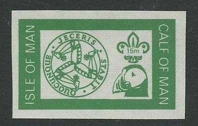 IOM Calf of Man 1972 Scout Puffin 15m impf GREEN PROOF