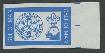 IOM Calf of Man 1972 Scout Puffin 30m imperf BLUE PROOF