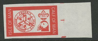 IOM Calf of Man 1972 Scout Puffin 30m imperf RED PROOF