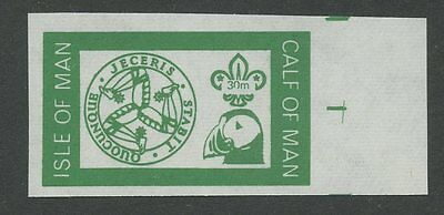 IOM Calf of Man 1972 Scout Puffin 30m impf GREEN PROOF