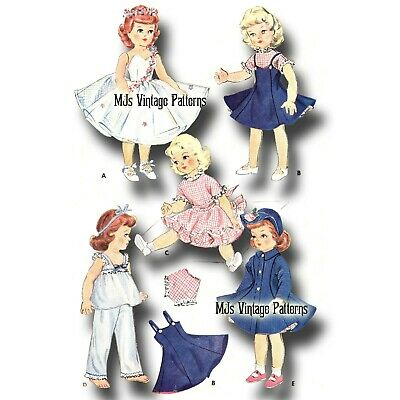 """Vintage Doll Clothes Pattern ~ 14"""" Betsy McCall"""