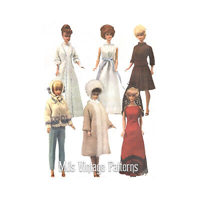 Tammy Midge Stacey Christie Vintage 60s Doll Dress Clothes Pattern ~ Barbie
