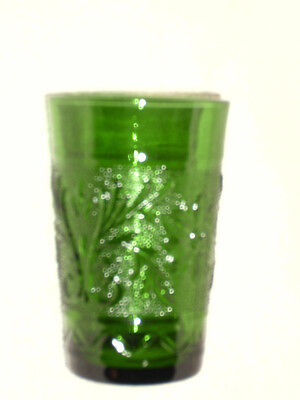 Sandwich Pattern Forest Green Small Juice Glass