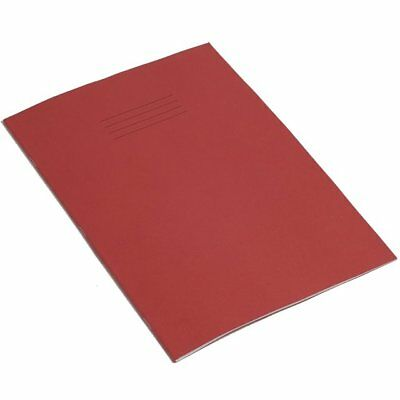 A4 School College Student Exercise Book Feint Ruled (8mm) Margined Red 64 Pages