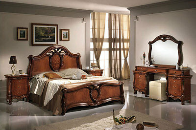 komplett schlafzimmer nostalgia nussbaum modular stilm bel italia klassik design eur. Black Bedroom Furniture Sets. Home Design Ideas