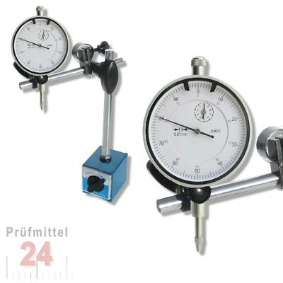 Magnet Messstativ mit Meßuhr Messuhr 10 / 0,01 mm NEU Set