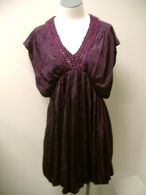 French Connection Bubble Dress with Crochet Neck 10 NWT
