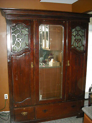 ULTRA RARE 1800s BEDROOM WARDROBE CABINET