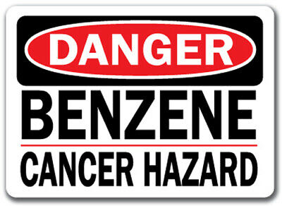 "Danger Sign - Benzene Cancer Hazard - 10"" x 14"" OSHA Safety Sign"