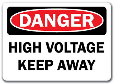 "Danger Sign - High Voltage Keep Away - 10"" x 14"" OSHA Safety Sign"