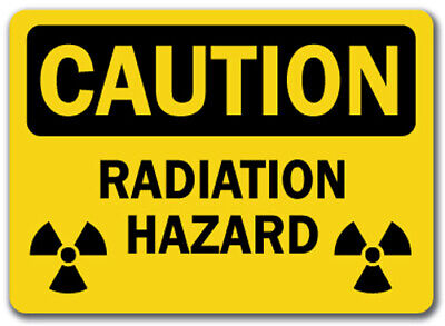"Caution Sign - Radiation Hazard (with bio graphic) - 10"" x 14"" OSHA Safety Sign"