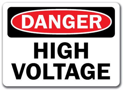 "Danger Sign - High Voltage - 10"" x 14"" OSHA Safety Sign"