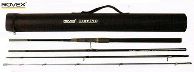 Rovex Lure Pro Quad 4-Piece Travel Spinning Rod 7ft-10ft Versions