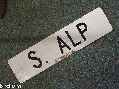 Vintage S ALP  Street Sign ~ Bay City, Michigan