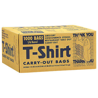 1000 Shopping Plastic Resale T-Shirt Carryout Bags