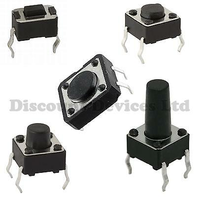 Quality Momentary Tactile Push Button Switch SPST Miniature/Mini/Micro/Small PCB