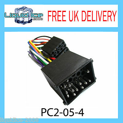 PC2-05-4 BMW 3 5 7 8 Series Round Pin ISO Stereo Head Unit Harness Adaptor Lead