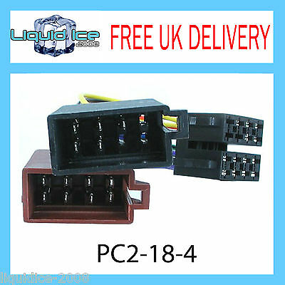 PC2-18-4 Audi 100 200 80 90 Cabriolet ISO Stereo Head Unit Harness Adaptor Lead