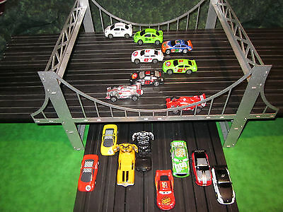 Steel HO slot car / train 8-lane Suspension bridge for most popular brands