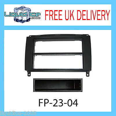 FP-23-04 Volkswagen Crafter 2006 > Black Fascia Facia Adaptor Panel Surround CD